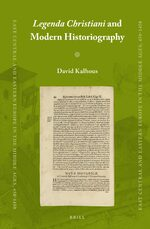 Cover <i>Legenda Christiani</i> and Modern Historiography