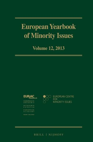 Cover European Yearbook of Minority Issues, Volume 12 (2013)