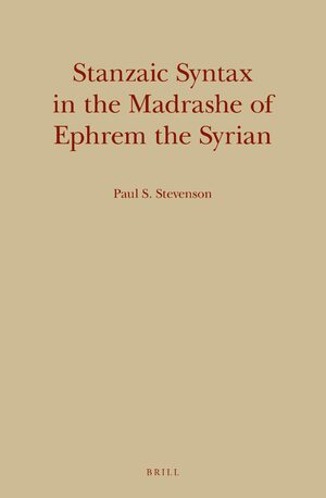 Cover Stanzaic Syntax in the Madrashe of Ephrem the Syrian