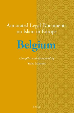 Cover Annotated Legal Documents on Islam in Europe: Belgium
