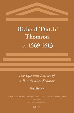 Cover Richard 'Dutch' Thomson, c. 1569-1613