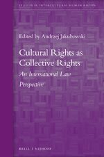 Cover Cultural Rights as Collective Rights