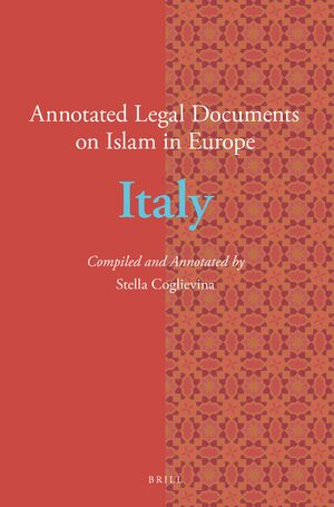 Cover Annotated Legal Documents on Islam in Europe: Italy