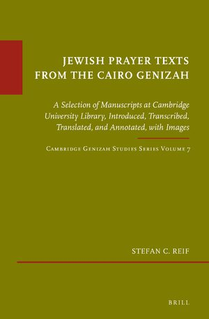 Cover Jewish Prayer Texts from the Cairo Genizah
