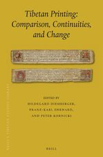 Cover Tibetan Printing: Comparison, Continuities, and Change
