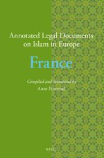 Cover Annotated Legal Documents on Islam in Europe: France