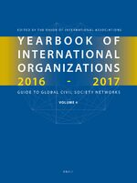 Cover Yearbook of International Organizations 2016-2017, Volume 4