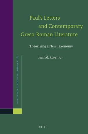 Cover Paul's Letters and Contemporary Greco-Roman Literature