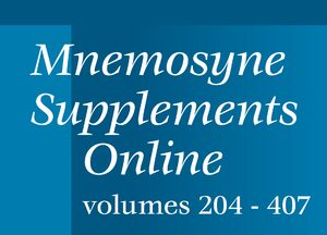 Cover Mnemosyne Supplements Online, Volumes 204-407