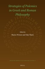 Cover Strategies of Polemics in Greek and Roman Philosophy