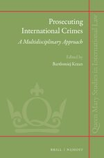 Cover Prosecuting International Crimes: A Multidisciplinary Approach