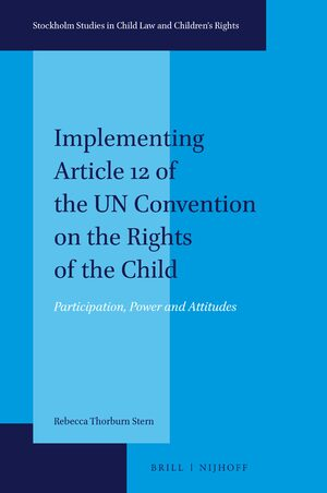 Cover Implementing Article 12 of the UN Convention on the Rights of the Child