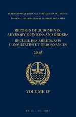 Cover Reports of Judgments, Advisory Opinions and Orders / Recueil des arrêts, avis consultatifs et ordonnances, Volume 15 (2015)