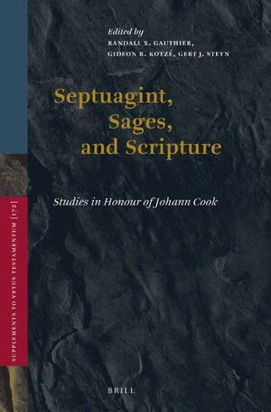 Cover Septuagint, Sages, and Scripture