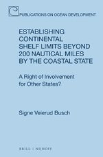 Cover Establishing Continental Shelf Limits Beyond 200 Nautical Miles by the Coastal State