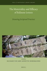Cover The Materiality and Efficacy of Balinese Letters