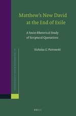Cover Matthew's New David at the End of Exile