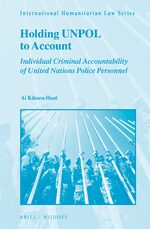Cover Holding UNPOL to Account