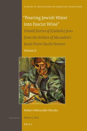 "Cover ""Pouring Jewish Water into Fascist Wine"""