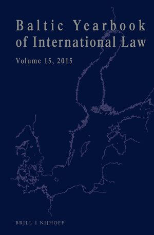 Cover Baltic Yearbook of International Law, Volume 15 (2015)