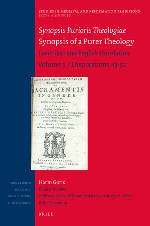 Cover Synopsis Purioris Theologiae / Synopsis of Purer Theology