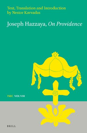 Cover Joseph Hazzaya, <i>On Providence</i>: Text, Translation and Introduction