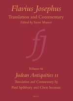 Cover Flavius Josephus: Translation and Commentary, Volume 6a: Judean Antiquities 11