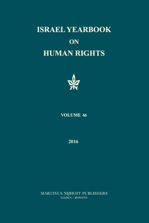 Cover Israel Yearbook on Human Rights, Volume 46 (2016)