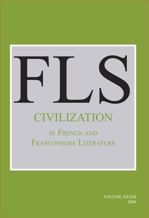 Cover Civilization in French and Francophone Literature