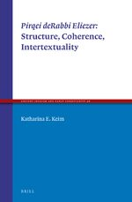 Cover <i>Pirqei deRabbi Eliezer</i>: Structure, Coherence, Intertextuality