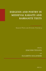 Cover Exegesis and Poetry in Medieval Karaite and Rabbanite Texts