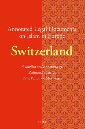 Cover Annotated Legal Documents on Islam in Europe: Switzerland