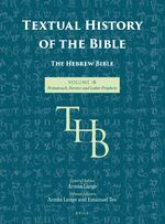 Cover Textual History of the Bible Vol. 1B