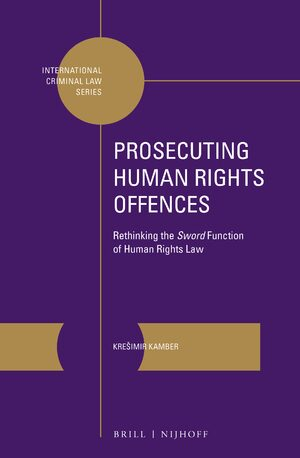 Cover Prosecuting Human Rights Offences