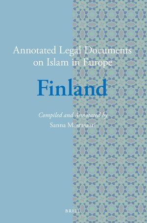 Cover Annotated Legal Documents on Islam in Europe: Finland