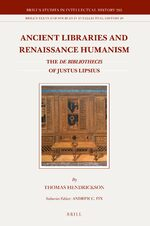 Cover Ancient Libraries and Renaissance Humanism
