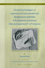 Cover Ownership Paradigms in American Civil Law Jurisdictions