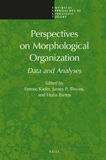Cover Perspectives on Morphological Organization