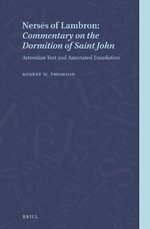 Cover Nersēs of Lambron: <i>Commentary on the Dormition of Saint John</i>