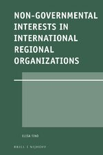 Cover Non-Governmental Interests in International Regional Organizations