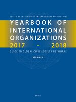 Cover Yearbook of International Organizations 2017-2018, Volume 4