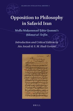 Cover Opposition to Philosophy in Safavid Iran