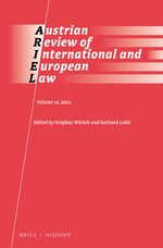 Cover Austrian Review of International and European Law, Volume 19 (2014)