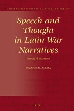 Cover Speech and Thought in Latin War Narratives