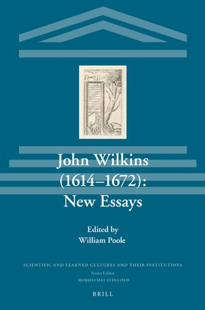 Cover John Wilkins (1614-1672): New Essays