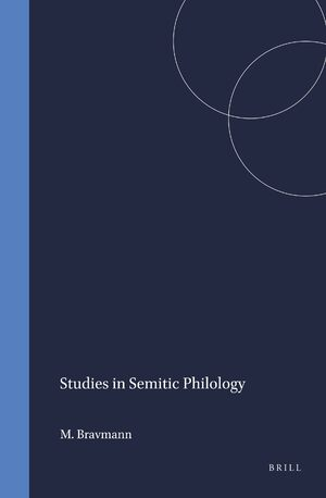 Cover Studies in Semitic Philology