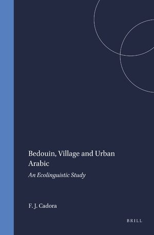 Cover Bedouin, Village and Urban Arabic