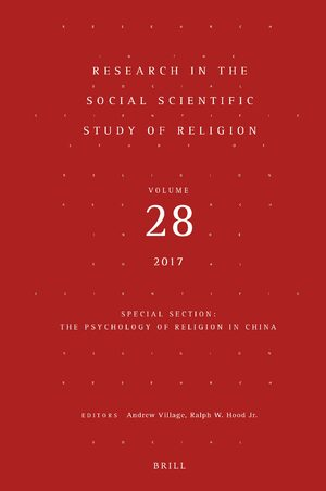 Cover Research in the Social Scientific Study of Religion, Volume 28