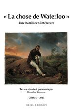 Cover « La chose de Waterloo »