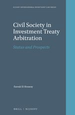 Cover Civil Society in Investment Treaty Arbitration